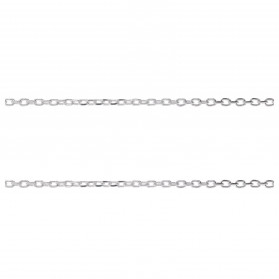 STERLING SILVER CHAIN TRACE DIAMOND CUT 2,6X1,5MM WIRE 0,4MM
