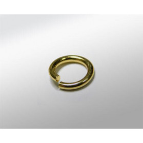 GOLDPLATED SILVER RING 5,5MM (ID 4MM) WIRE 0,7MM