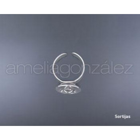SILVER RING WITH END CAP SO036/17