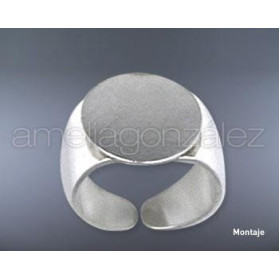 14 MM WIDE RING WITH DISC
