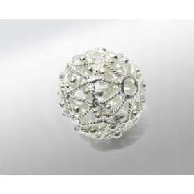 BOLA PLATA 12MM (ID 1.50MM) FILIGRANA