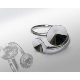FLEXIBLE RING 2MM FOR RIVOLI 8MM-12MM 925 STERLING SILVER