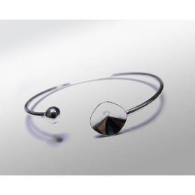 FLEXIBLE BRACELET 2MM FOR ANTICK 12MM + BEAD STERLING SILVER