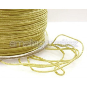 CORDON MACRAME 0,7MM AMARILLO -130M NYLON TRENZADO SATIN
