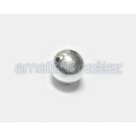 BOLA METAL LISA 24MM PLATA VIEJA