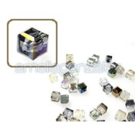 CUBO CRISTAL 4MM (ID 1MM) -20 UN 7113 CRYSTAL ARGENT LIGHT