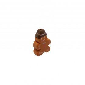 ENTREPIEZA FIMO 14X10MM (ID 1MM) GALLETA CHOCOLATE