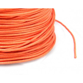 CORDON COTON CIRE 1,30MM ORANGE 100 METRES