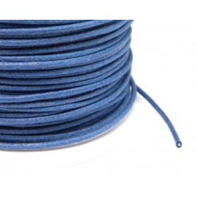 CORDON COTON CIRÉ 1,30MM 024 BLUE MARINE 100 METRES