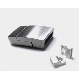 MAGNETIC 10X2,5MM CURVED FLAT MAT BUCKLE STAINLESS STEEL
