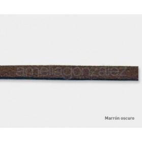 CORDON GAMUZA 3X1 MM N.158 MARRON OSCURO METRO
