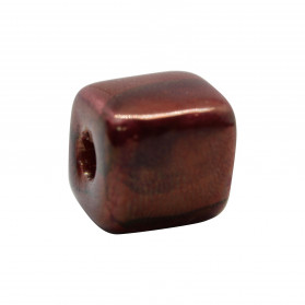 14X14 RED GOLD POTTERY CUBE