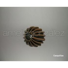 CASQUILLA GALLON METAL 10MM COBRE ANTIGUO