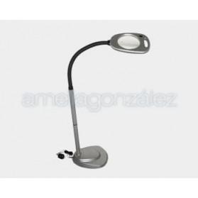 LAMPARA DE PIE CON 12 LEDS Y LUPA 2X 130MM