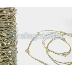 CORDON ALGODON BEIGE 50M 001 CRISTAL GOLDEN SHADOW SWAROVSKI