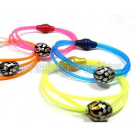 RUBBER BRACELET 2MM WITH CLOSING POLARIS AND ENTREPIEZA