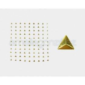 TRANSFERS METAL PRIAMIDE 10MM -99 UN DORADO BRILLANTE