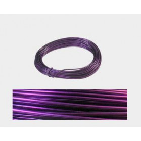 CABLE ALUMINIO MALEABLE 2MM PURPURA -12 METROS