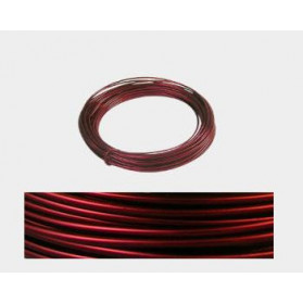 2 MM MALLEABLE ALUMINIUM WIRE RED - 12 M