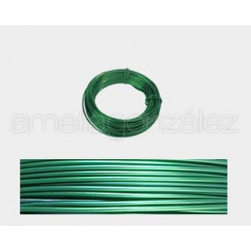 CABLE ALUMINIO MALEABLE 1MM VERDE KELLY - 12 METROS