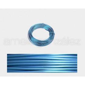 CABLE ALUMINIO MALEABLE 1MM AZUL CLARO -12 METROS