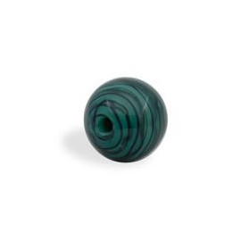 GLASS WAVED STRIPES 10MM MALACHITE
