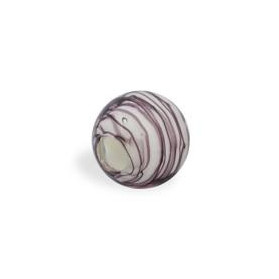WAVED GLASS STRIPES 14MM (4MM HOLE) WHITE MALLOW