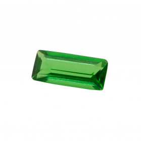 HARD MASS EMERALD SYNTHETIC BAGUETTE CUT