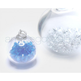 BUBBLES BOLA 40MM PLATA TUPPI CRISTAL SWAROVSKI ELEMENTS