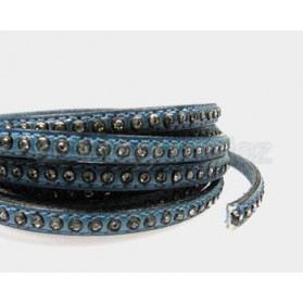 LEATHER BAND WITH STRASS