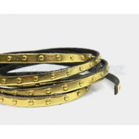 LEATHER BAND 5X2 WITH STUDS