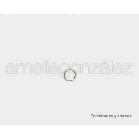 ANILLA METAL 4.5 MM (HILO 0,7MM) -100 UN PLATEADAS