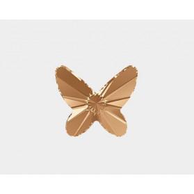 MARIPOSA PLANA 12MM-18PCS 001 GOLDEN SHADOW  SWAROVSKI