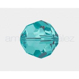 BOLA 6MM-60PCS 229 BLUE ZIRCON SWAROVSKI