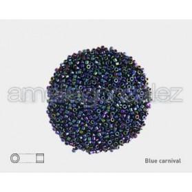 DELICA MIYUKI 11-0  N.002 BLUE CARNIVAL IRIS METALIZ.(100GR)