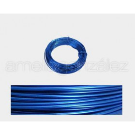 CABLE ALUMINIO MALEABLE 1MM AZUL ROYAL -12 METROS