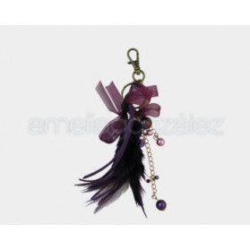 FANCY JEWELRY FEATHER PENDANT 003 PURPLE