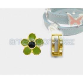 Pasador Flor verde para 10x2mm