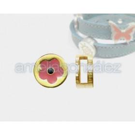 Pasador Flor rosa para 10x2mm