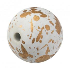 Bola blanca acrílica - 100 pcs