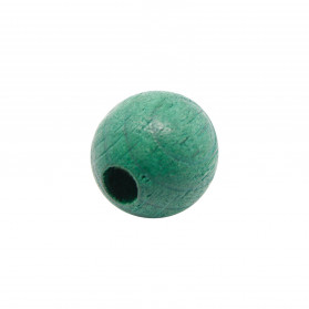 BOLA MADERA  VERDE OSCURO (ID 3MM)