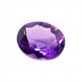 AMETHYST HYDROTHERMAL SYNTHETIC OVAL CUT