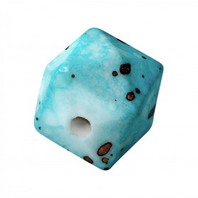 ACRILICO ROCK CUBO FACETADO 13 MM -100 UN TURQUESA