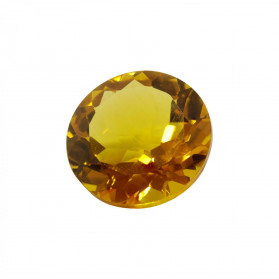 HYDROTHERMAL CITRINE SYNTHETIC ROUND CUT