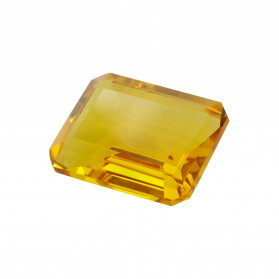 HYDROTHERMAL  CITRINE EMERALD CUT