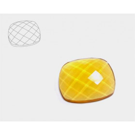 HYDROTERMAL CITRINE ANTIC CHESSBOARD CABOCHON