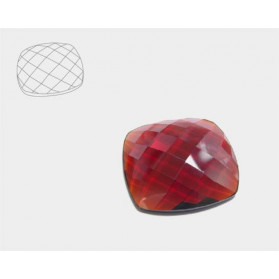 HYDROTHERMAL GARNET FACETED ROUND CABOCHON 20MM