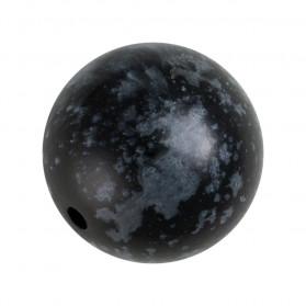 Bola acrílico color negra y gris -100 unid