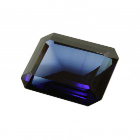 SYNTHETIC BLUE SAPPHIRE EMERALD CUT