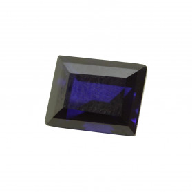 BLUE SAPPHIRE SYNTHETIC RECTANGLE CUT